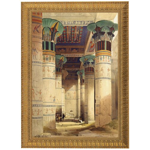 Egyptian Grand Portico, Philae by David Roberts Framed Painting Print