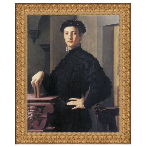 Portrait of a Young Man, 1530 by Bronzino (Agnolo di Cosimo di Mariano) Framed Painting ...