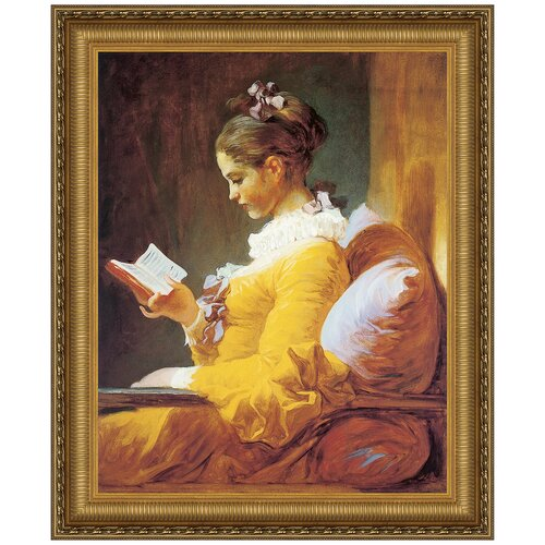 A Young Girl Reading, 1770 - 1772 by Jean-Honore Fragonard Framed Painting Print