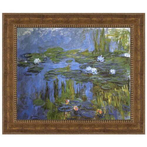 Water Lilies, 1915 by Claude Monet Framed Painting Print