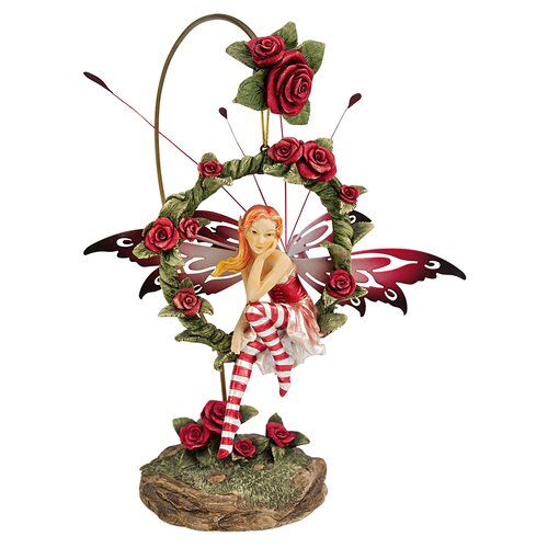 Radiant Rose Dangling Fairy Sculpture