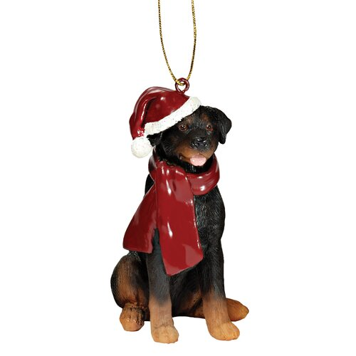 Rottweiler Holiday Dog Ornament Sculpture