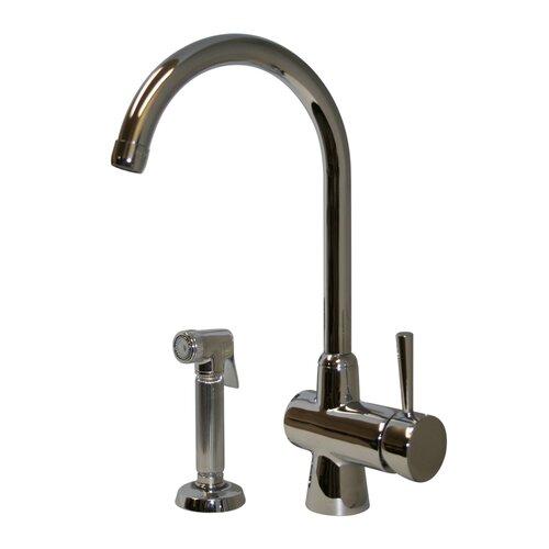 evolution arcade one handle single hole kitchen faucet
