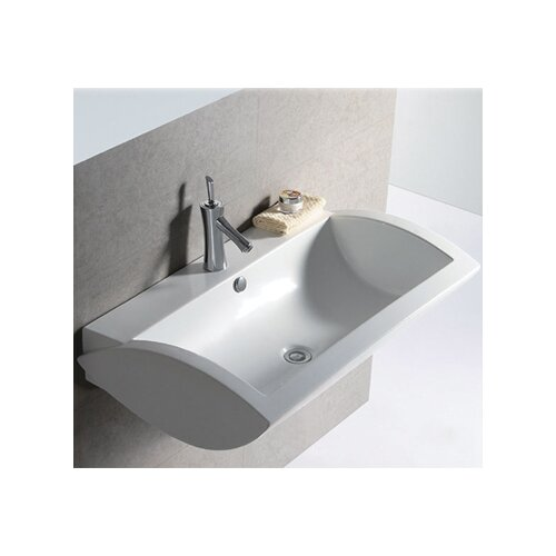 Isabella Rectangular Bathroom Sink with Center Drain