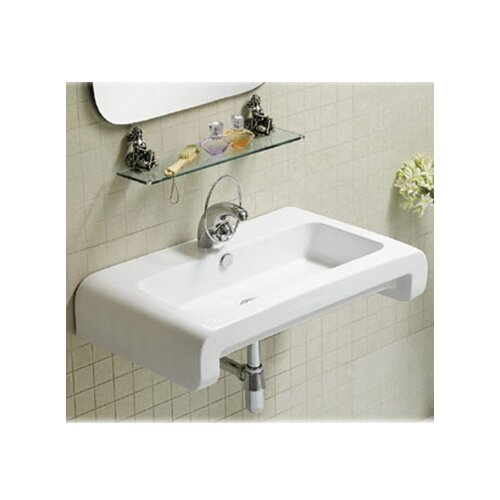 Isabella Rectangular Bathroom Sink with Overflow and Rear Center Drain
