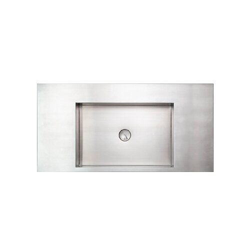 Noah's Rectangular Above Mount Stainless Steel Bathroom Sink