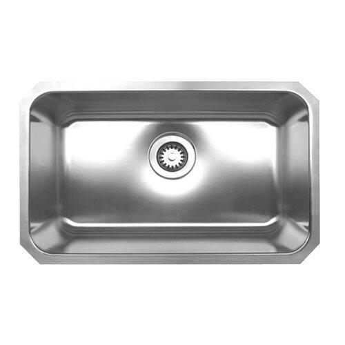"Whitehaus Collection Noah 30.25"" x 18.25"" Single Bowl Undermount Kitchen Sink"