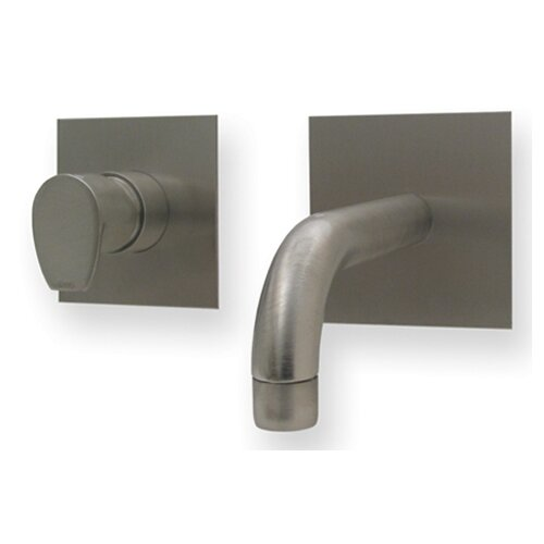 Gyro Wall Mounted Bathroom Faucet with Single Lever Handle