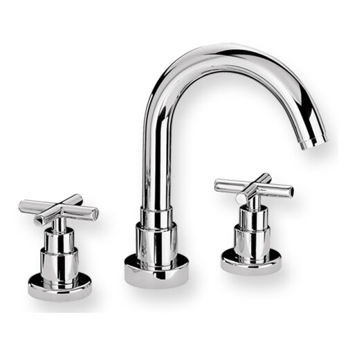 Whitehaus Collection Luxe Widespread Bathroom Faucet with Double Cross Handles