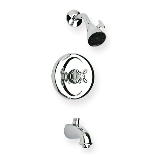 Whitehaus Collection Metrohaus Pressure Balance Diveter Tub and Shower Faucet WH0869700C