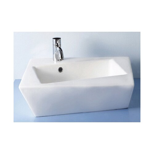 China Above Mounted Escher Torto Distorted Rectangular Bathroom Sink with Angle Sides