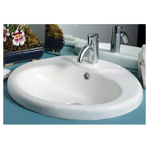 China Sly Oval Bathroom Sink with Overflow