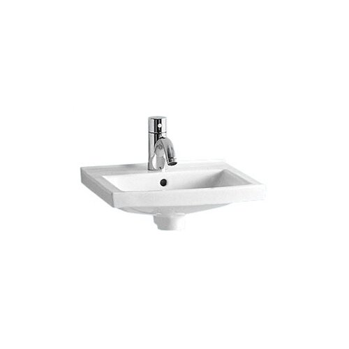 China Wall Mount Small Rectangular Bathroom Sink with Overflow