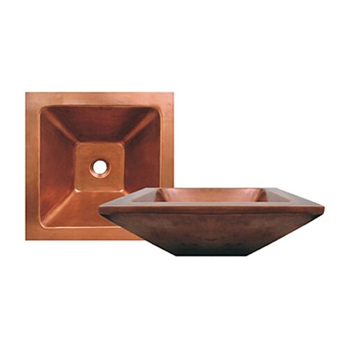 Whitehaus Collection Copperhaus Square Bathroom Sink