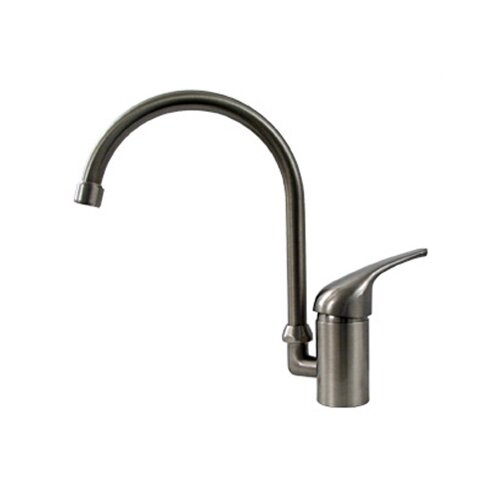 Whitehaus Collection Flamingo II One Handle Single Hole Kitchen Faucet with Gooseneck Swivel Spout