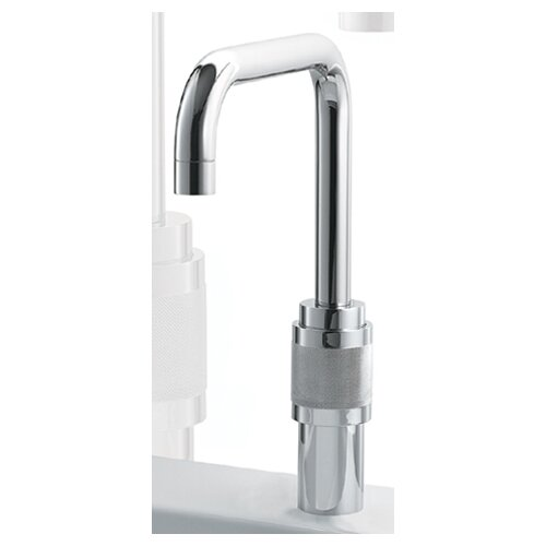 Whitehaus Collection Gesto Single Hole Bar Faucet Less Handles with Squared Swivel Spout
