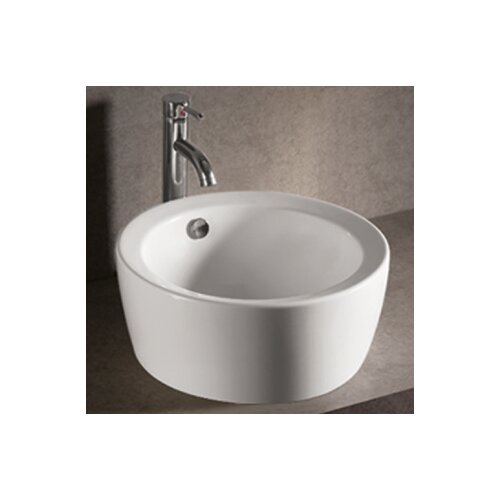 Whitehaus Collection Isabella Round Bathroom Sink with Overflow and Center Drain