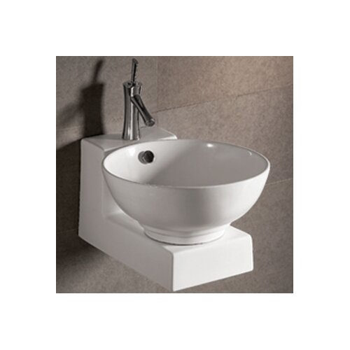 Isabella Round Bathroom Sink with Overflow and Center Drain