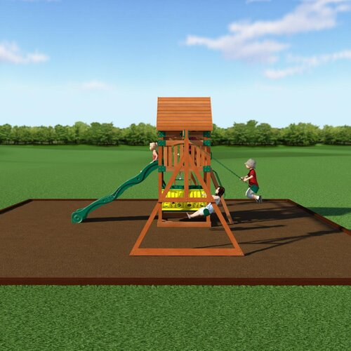 Backyard Discovery Flagstone Peak All Cedar Swing Set