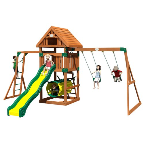 Flagstone Peak All Cedar Swing Set