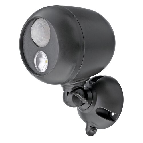 Mr. Beams Mr. Beams MB363 Wireless LED Spotlight with Motion Sensor and Photocell, Dark Brown, 3-Pack