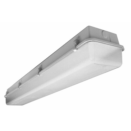 Deco Lighting 59W Industrial Vaportite Two Light Strip Light in Baked White Enamel