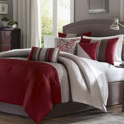 Madison Park Tradewinds 6 Piece Duvet Set in Red