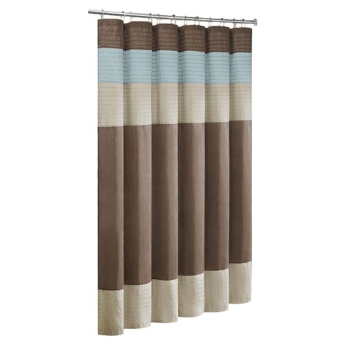 Madison Park Trinity Faux Dupioni and Polyester Shower Curtain