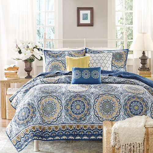 Madison Park Tangiers 6 Piece Coverlet Set Amp Reviews Wayfair