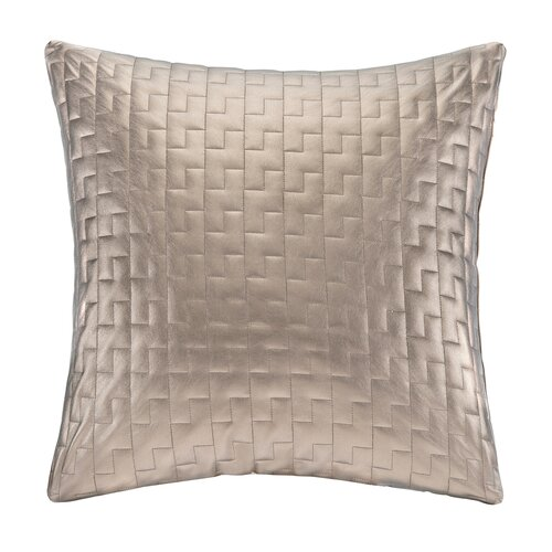 Quilted Metallic Faux Leather Square Pillow