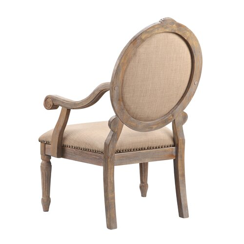 arm dining chair madison park madison park brentwood oval back exposed wood arm chair