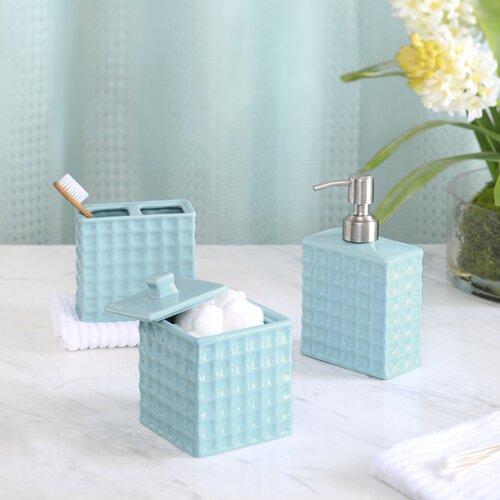 Madison park waffle 3 piece bath accessory set reviews - Madison park bathroom accessories ...