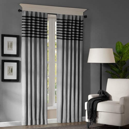 Madison Park Connell Rod Pocket Curtain Panel Pair