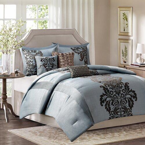 madison park lola 7 piece comforter set reviews wayfair. Black Bedroom Furniture Sets. Home Design Ideas