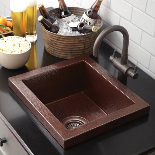 "Native Trails, Inc. 17"" x 15"" Manhattan Bar Sink"