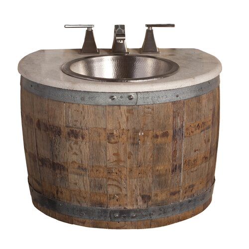"Native Trails, Inc. Vintner's 24"" Bordeaux Wall Mount Vanity Base"