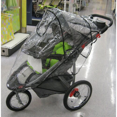 Baby Trend Single Front Swivel Wheel Expedition ELX & Velocity Stroller Rain and Wind Cover ...