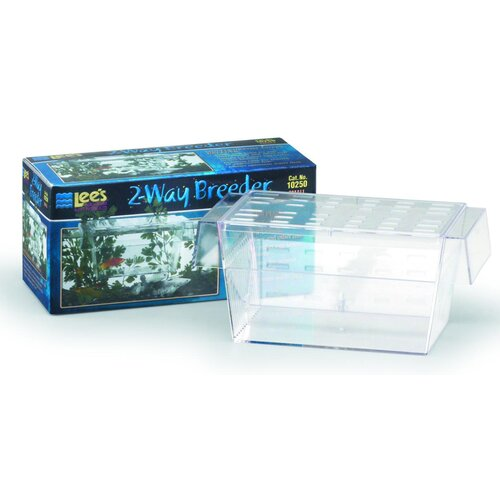Lees Aquarium & Pet 2-Way Guppy Breeder Aquarium Tank