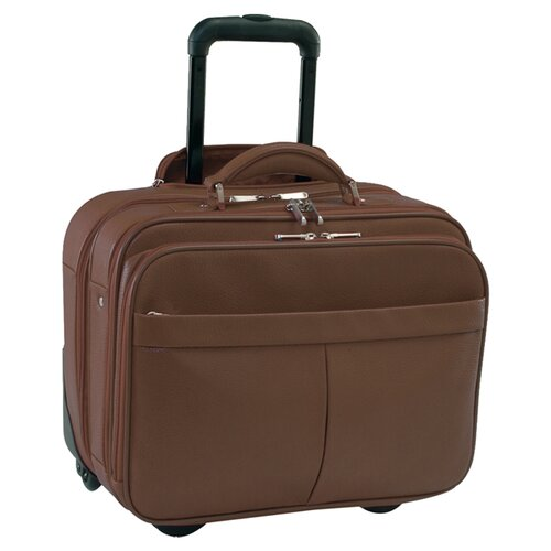 Royce Leather Rolling Laptop Briefcase Travel Bag