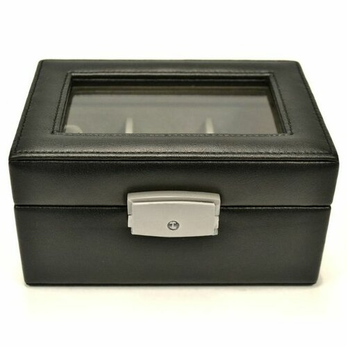 Royce Leather Luxury 3 Slot Watch Jewelry Box