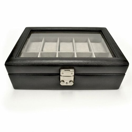 Royce Leather Luxury 10 Slot Watch Jewelry Box in Genuine Leather