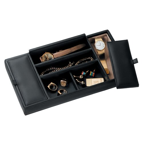 Royce Leather Men's Valet Accessory Tray