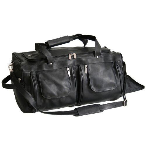 "Royce Leather 21.5"" Vaquetta Nappa Leather Travel Duffel Bag"
