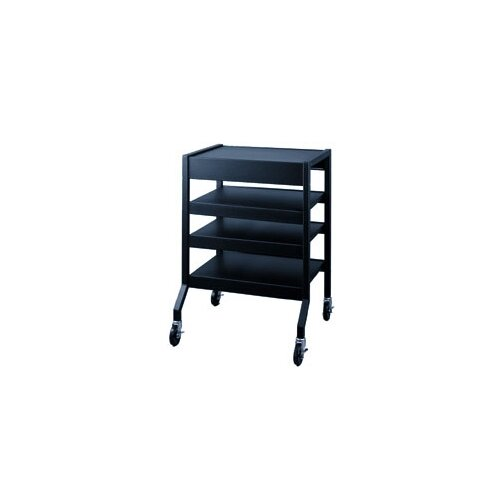 Lucasey Mobile Cart with 2 Multi-Position Center Shelves