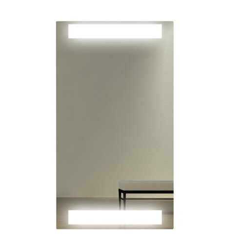 WarmlyYours Lava Light Infrared Heating Panel Wall Mirror