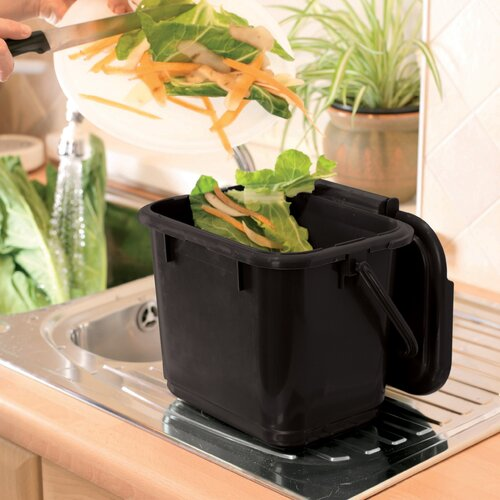 RTS Companies 1.32 Gal Odour Free Kitchen Caddy