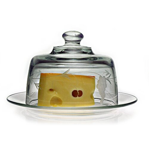 Susquehanna Glass Hand Cut Sonoma Pattern Covered Cheese Server
