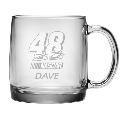 Susquehanna Glass Nascar Jimmie Johnson 13 oz. Coffee Mug with Personalization