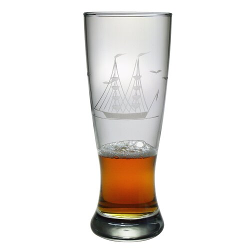 Susquehanna Glass Grand Pilsner 20 oz. Hand Cut Clipper Ship Pattern
