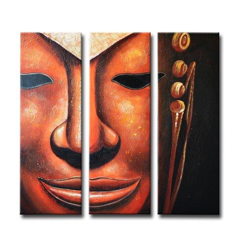 Segma Inc. Radiance Nituna 3 Piece Original Painting on Canvas Set